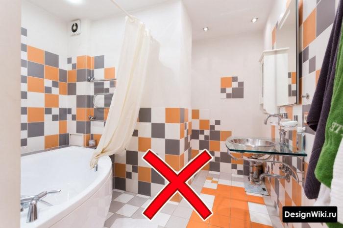 Ошибка - устаревший интерьер ванной