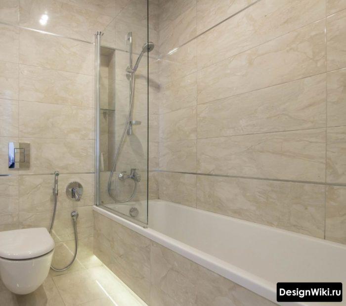 Парящая ванна с подсветкой снизу