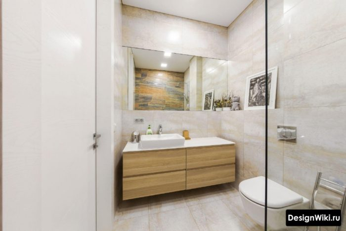 Песочный цвет в ванной
