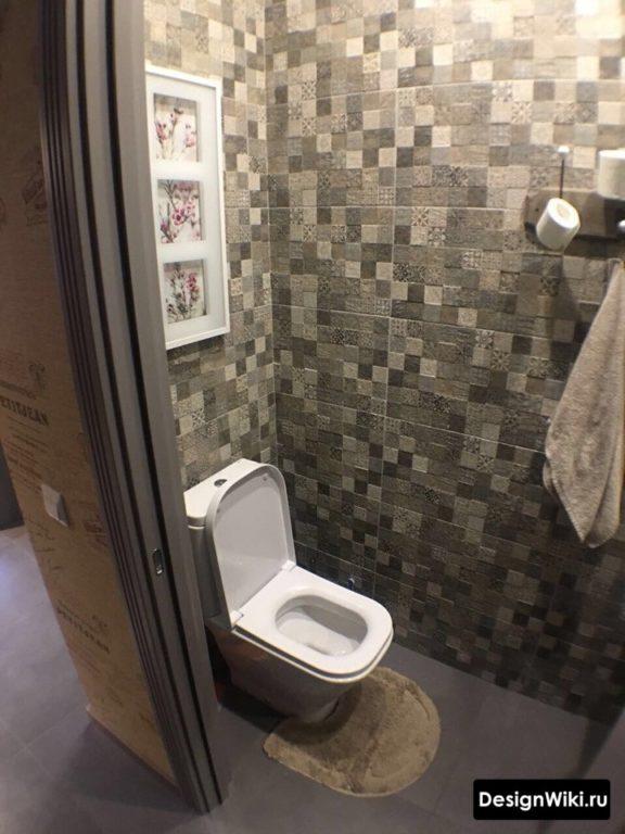 Плитка пикселька в туалете