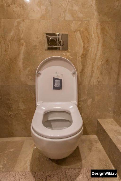 Плитка под мрамор в туалете