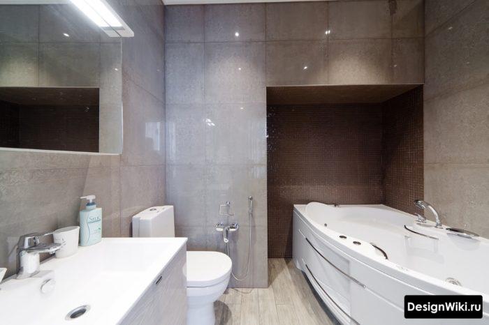 Правильный современный дизайн ванной комнаты