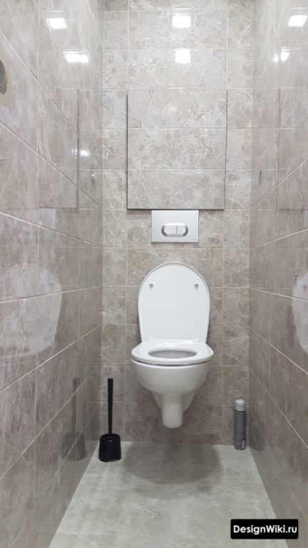 Ремонт в маленьком туалете со скрытым люком