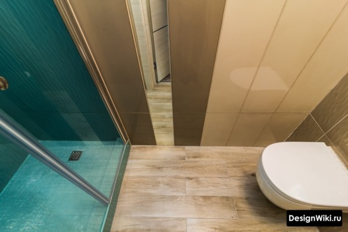 Современная скандинавская ванная с душевой