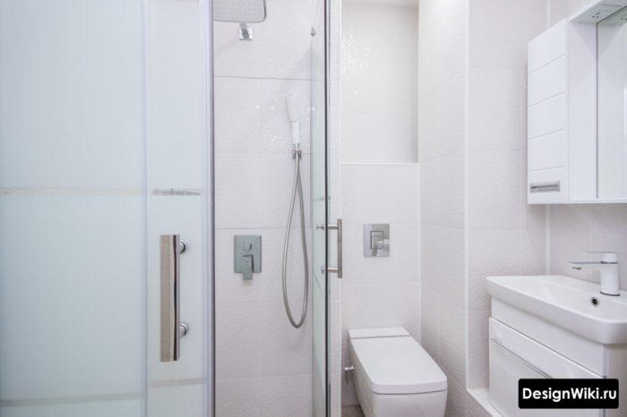 Современный дизайн ванной комнаты без ванны
