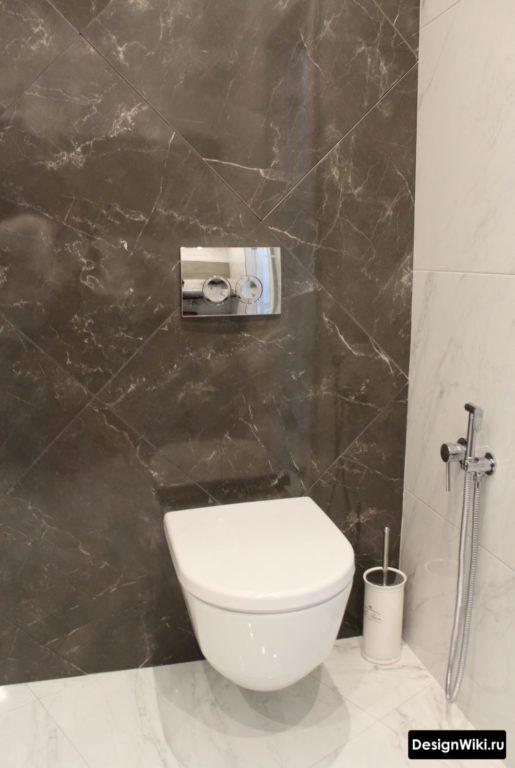 Современный дизайн ванной с плиткой мод мрамор