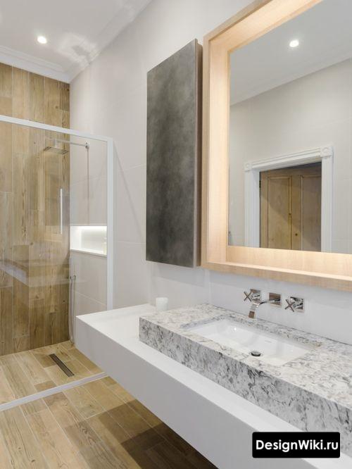 Современный дизайн интерьера ванной в скандинавском стиле
