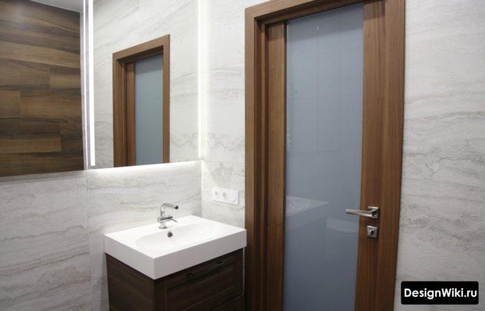Современный скандинавский стиль в ванной комнате
