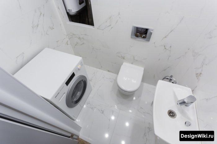 Туалет со стиральной машиной без ванны