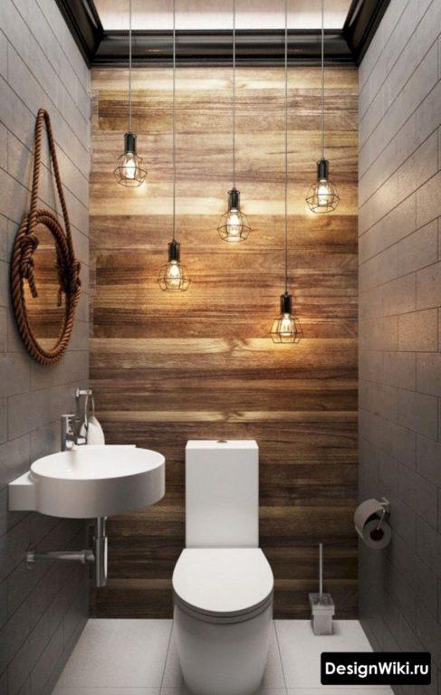 Туалет 2 кв.м в стиле лофт