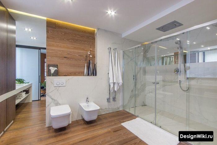 Шикарный дизайн ванной в скандинавском стиле