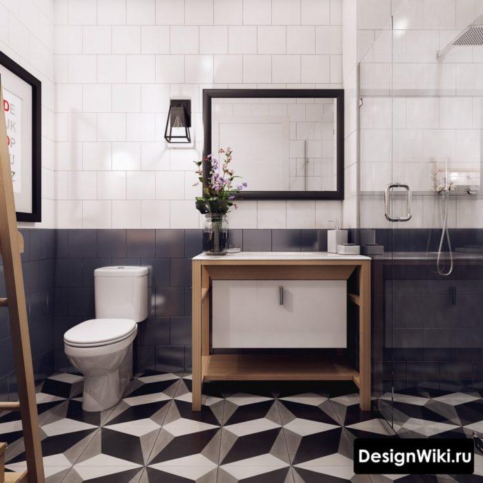 3d плитка для скандинавского стиля ванной