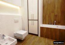 Современный дизайн ванной в стиле хай-тек