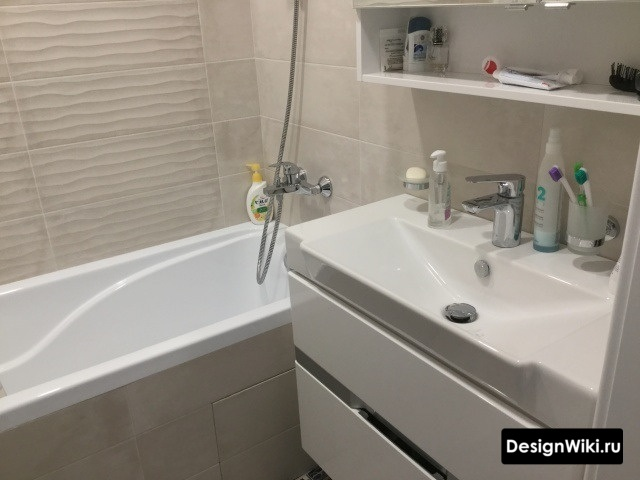 Аккуратный ремонт ванной в хрущевке