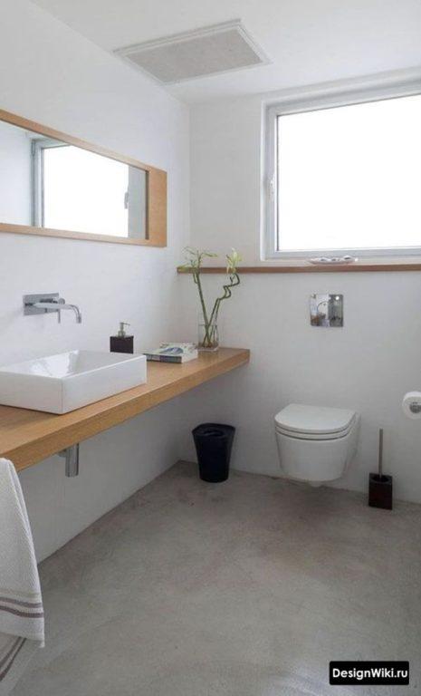 Белый цвет в ванной в стиле лофт