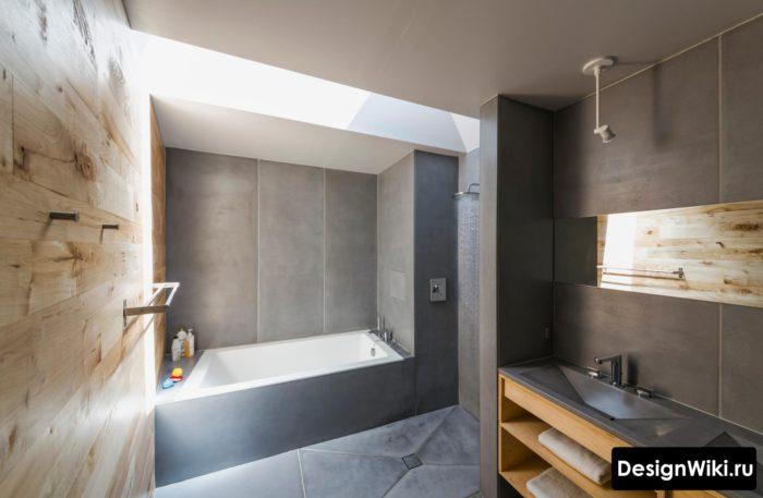 Ванная в стиле хай-тек лофт