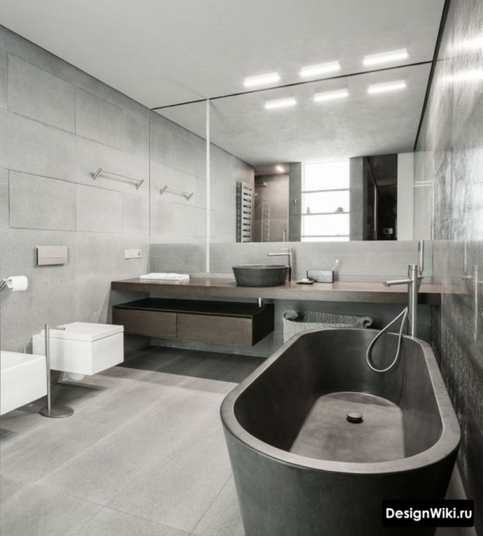 Ванна из бетона