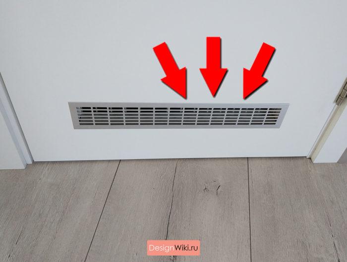 Вентиялционные решётки в дверях