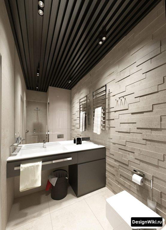 Верхний свет в ванной в стиле лофт