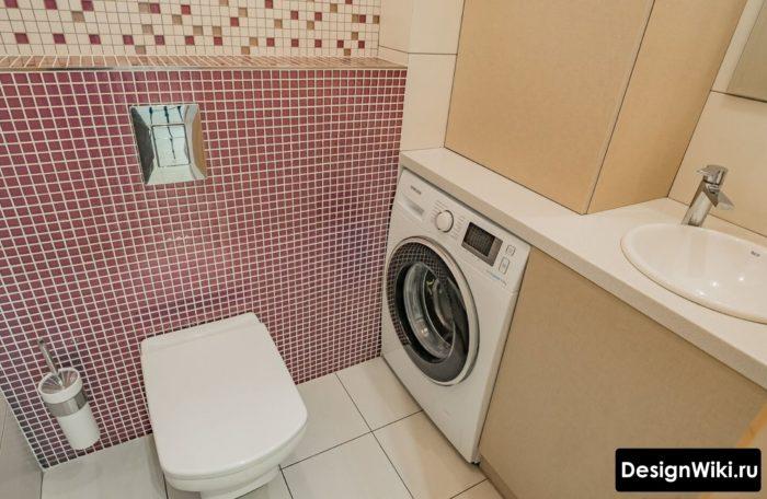 Выбор акцентной плитки мозаики для ванной