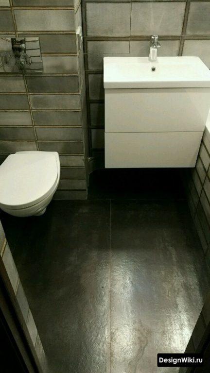 Выбор керамогранита для пола ванной