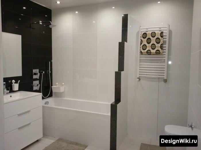 Выбор одноцветной черной и белой плитки