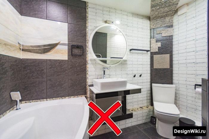 Выбор основной и акцентной плитки для ванной