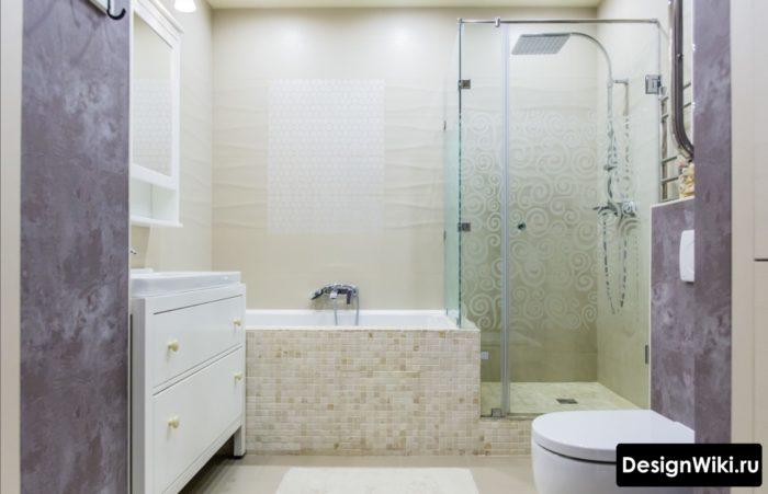 Выбор плитки в стиле модерн для ванной