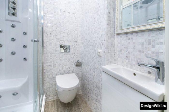 Выбор плитки мозаики для стен ванной