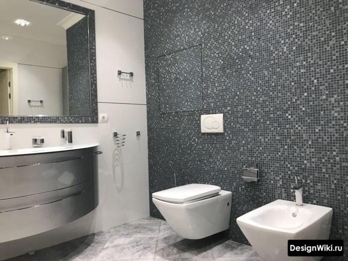 Выбор разных размеров плитки в ванной