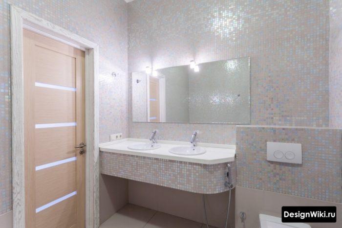 Можно ли использовать белые кирпичики в ванной