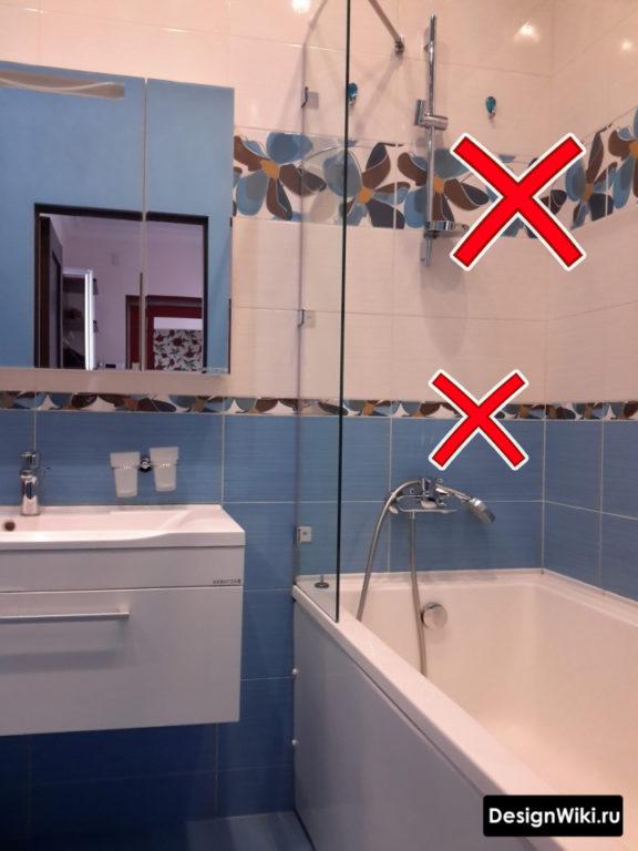 Отказ от декоров и бордюров для ванной в хрущевке #дизайнинтерьера