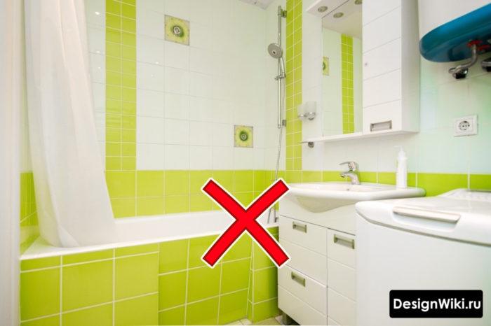 Ошибка не тот цвет в ванной в хрущевке