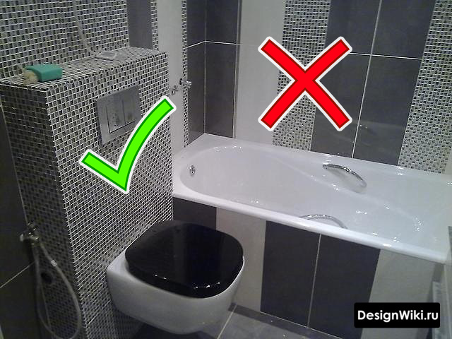 Ошибка с раскладкой плитки в ванной в хрущевке