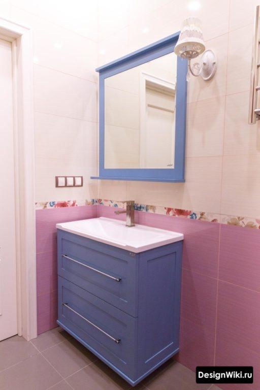 Плитка из одной коллекции в ванной
