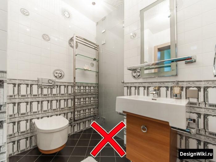 Плохая плитка в ванне