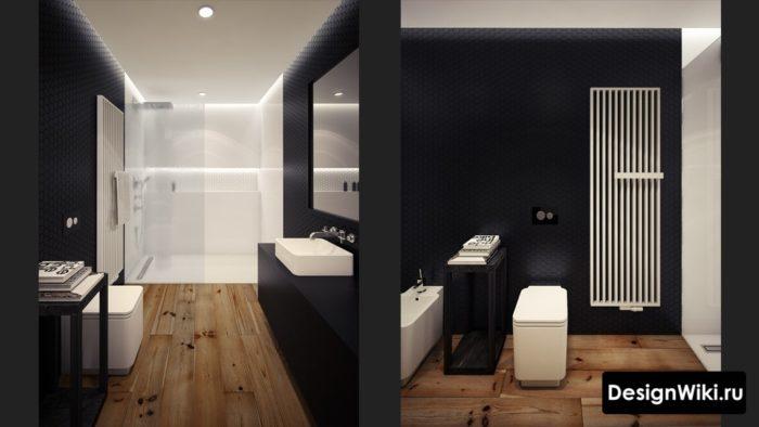 Полотенцесушитель в стиле лофт для ванной