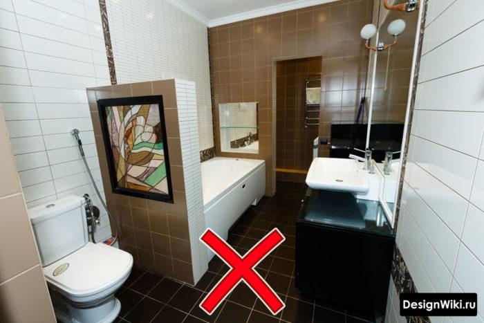 Почему коричневая плитка для ванной - плохой выбор