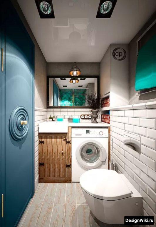 Сочетание цветов в ванной в стиле лофт