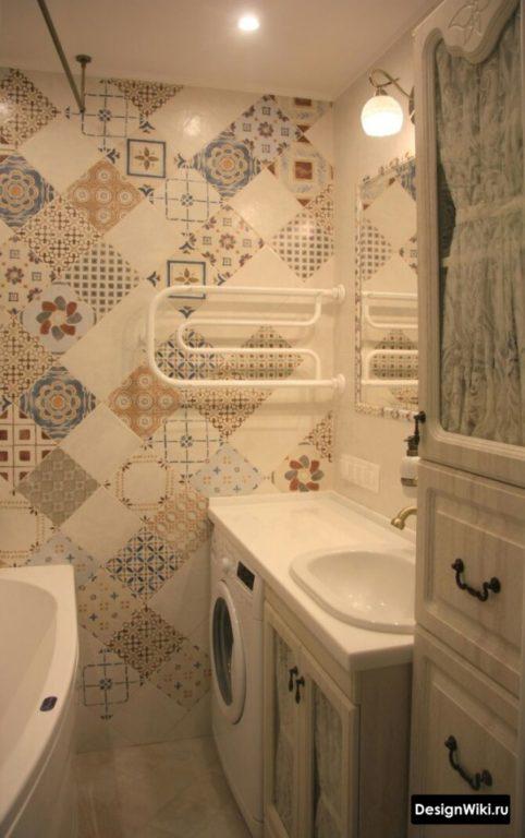 Стильный бюджетный #ремонт ванной в хрущевке #ваннаякомната