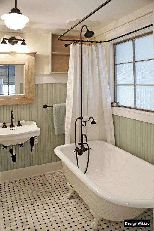 Бюджетный интерьер ванной в стиле прованс