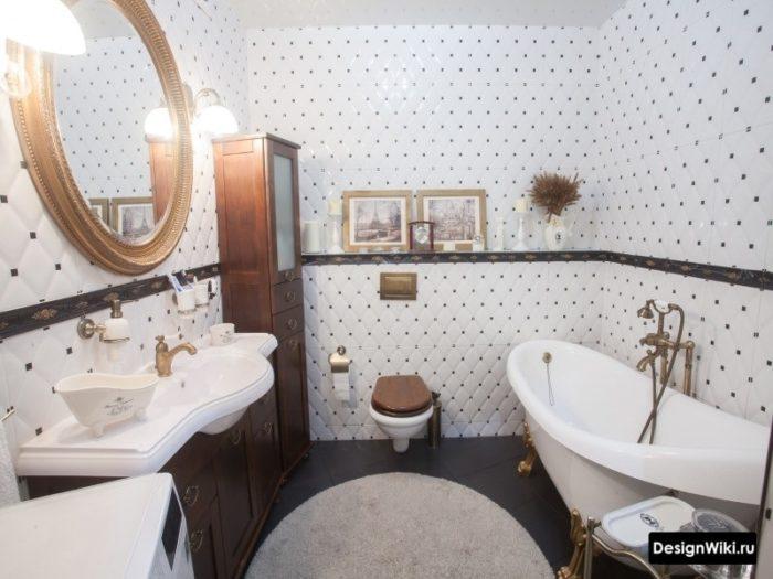 Ванная комната с плиткой в стиле прованс