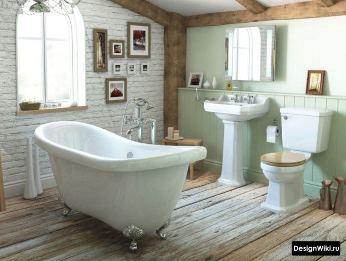 Винтажная ванная комната в стиле прованс