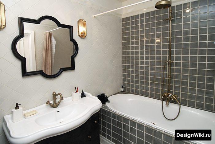 Дизайн ванной в античном ретро стиле