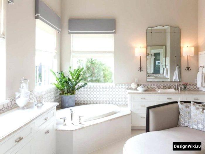 Дизайн классической ванной комнаты в коттедже