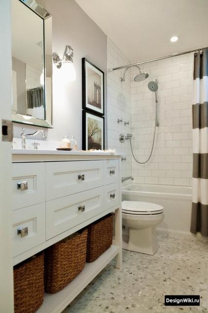 Классический английский дизайн ванной