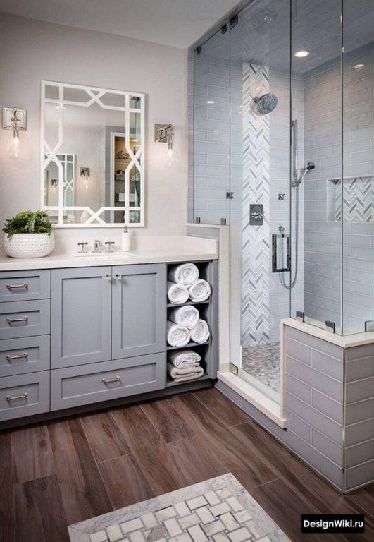 Места хранения в ванной в классическом стиле