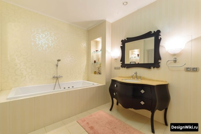 Минималистичная ванная в классическом стиле