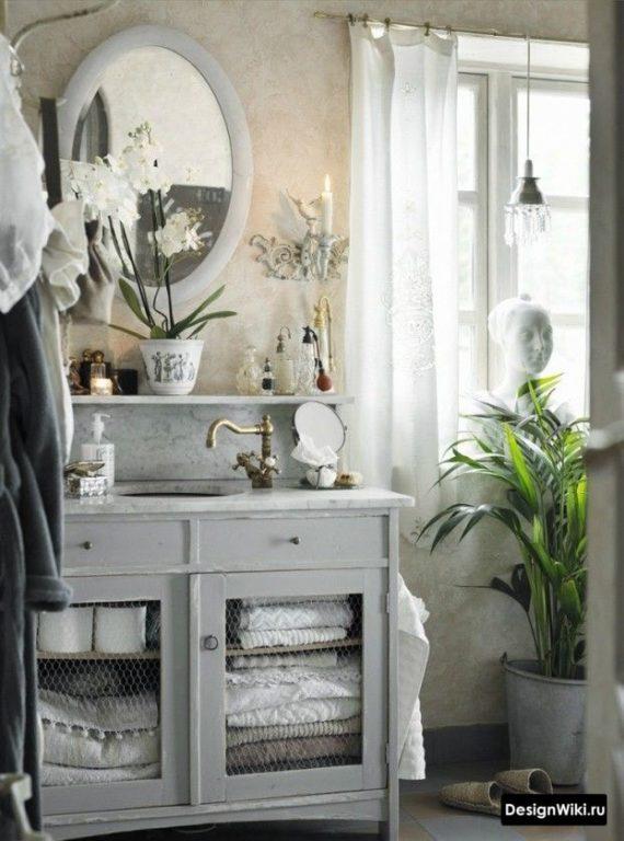 Оригинальная ванная в стиле прованс