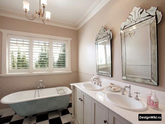 Пастельный коричневый в ванной в стиле прованс